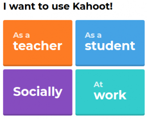 kahoot user registration options image